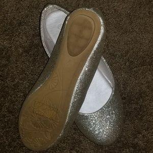David bridals round toe ballet flats